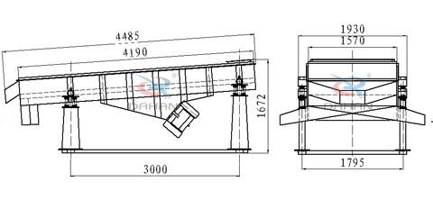 1540直线振动筛结构图